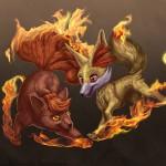 Vulpix and Fennekin (Fanart)